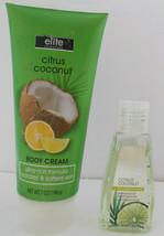 2 Pack  Citrus Coconut Ultra Rich Body Cream & Antibacterial Hand Sanitizer - $9.89