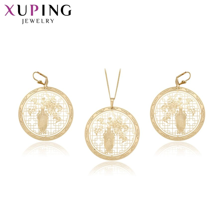 Primary image for Xuping Fashion Design Rural Style Gold Color Plated Set for Women Hot Sell Imita