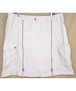 VANILIA cargo skirt US 14 euro 44 NWOT asymmetric seams zippers clinches... - $19.79