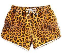 PANDA SUPERSTORE [Fashion Leopard] Women Board Shorts Quick-Dry Surfing/Swim Sho