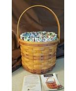 Longaberger 1996 May Series Sweet Pea Basket #14915 Liner Protector - $38.00