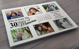 Personalised large white wooden plaque sign, 40 x 30 cm, 30th birthday p... - $25.63
