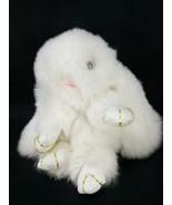 Genuine Mink Fur Kopenhagen Pendant Bag Car Tag Key Chain Fob Charm Whit... - $34.64