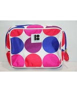 Estee Lauder Cosmetic Make Up Travel Bag Multicolor Circles Red Pink Blue  - $6.29