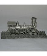 Pewter Model General Train Engine & Track 1:90 Franklin Mint Flawed - $19.99