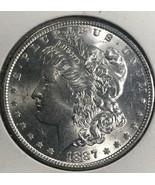 1887-P Choice Uncirculated Morgan Silver Dollar  A105 - $44.55