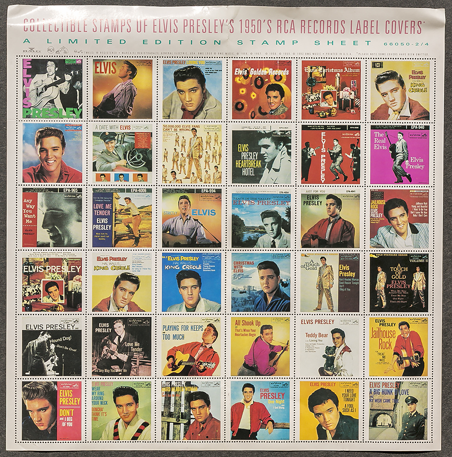 Collectible Stamps of Elvis Presley's 1950's RCA Records Label Covers