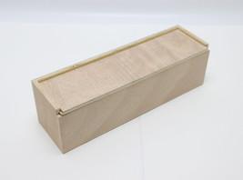 "13x3.7x3.7"" Single Bottle Wood Wine Box Holiday Wine Box Gift Wrap Box Case - $15.83"