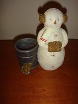 Hallmark Snowman Tea Light Candle Holder, For Winter/Christmas, New - $11.49