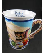 Gary Patterson Comical Cats Porcelain Collector  Mug Cup Peek a Boo Danb... - $8.31