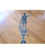 Figure Christopher COLUMBUS Sterling Silver Souvenir Spoon LANDING IMAGE... - $19.99