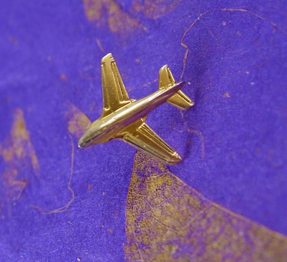 Figural Airplane Tie Tack Airlines Pilot Vintage