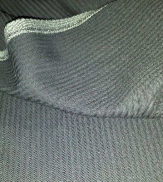 Navy Blue HeringBone 120'S Italian Wool suit fabric 9 Yard  -MSRP $1295