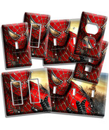 AMAZING SPIDERMAN LIGHT SWITCH OUTLET PLATES MEN CAVE GAME PLAY ROOM BED... - $8.09+