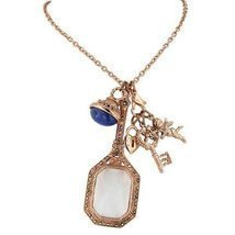 Copper Tone Link Magnifier Necklace with Interchangeable Pendants & Lapi... - $43.56