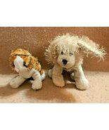 GANZ-- PLUSH PAIR LIL KINZ STRIPED ALLEY CAT AND GOLDEN RETRIEVER  - $12.45