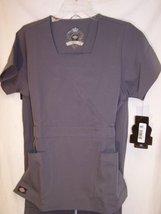 Dickies Black Label 4 Way Stretch Nurses Scrub Top 17113 Silver 2XL (PB100) - $24.99