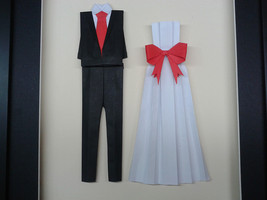 Origami Suit For Anniversary, Wedding, Valentine Gift For Her/Him - $80.00