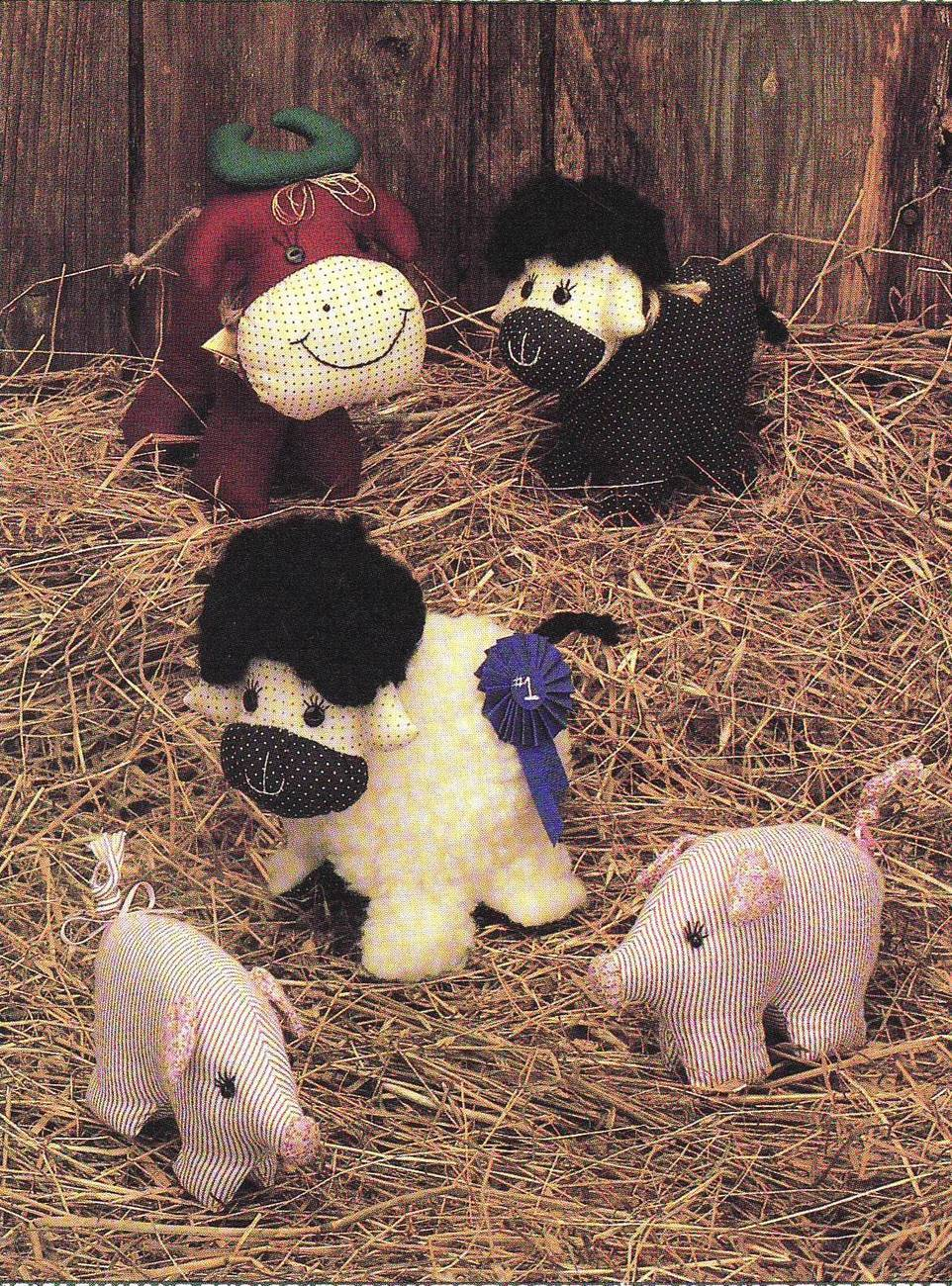 Primary image for Best of Show Stuffed Steer Pig Lamb Sewing Pattern Tomorrow's Treasures Burkhart