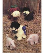 Best of Show Stuffed Steer Pig Lamb Sewing Pattern Tomorrow's Treasures ... - $12.95