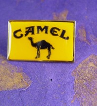 CAMEL Tie Tack Vintage Epinglette with Butterfly Clutch Yellow Black Col... - $55.00