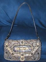 Guess Venus Mini Purse Gold Metallic Logo Croc Handbag Shoulder Bag - $14.99
