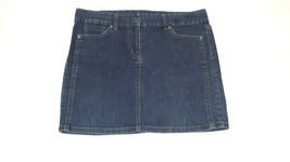 ANN TAYLOR  Womens  BLUE Denim Jeans Jean Skirt Size 10 Distressed Relax... - $18.81