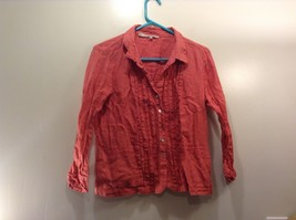 Gerard Darel Faded Red Button Up Shirt Sz 42