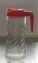Tang Drink Pitcher Swirl Clear Orange Juice Vin... - $35.00