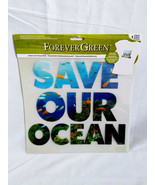 "Lot of 5 Forever Green ""SAVE OUR OCEAN"" Soy Ink Iron-On Transfer - $14.26"