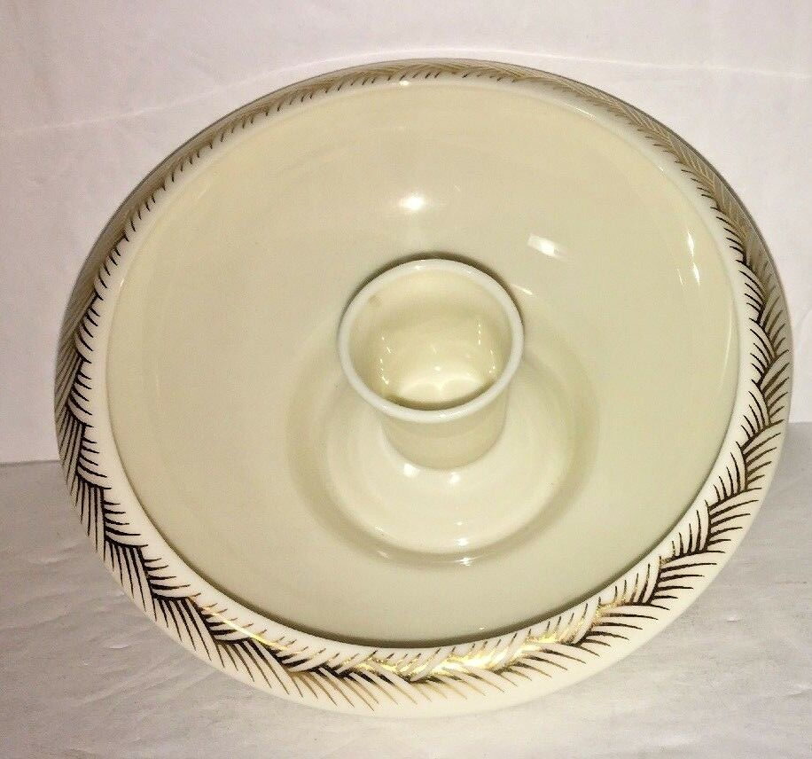 Candle holder LENOX White Gold Tapered Dinner Candles Center Piece Porcelain
