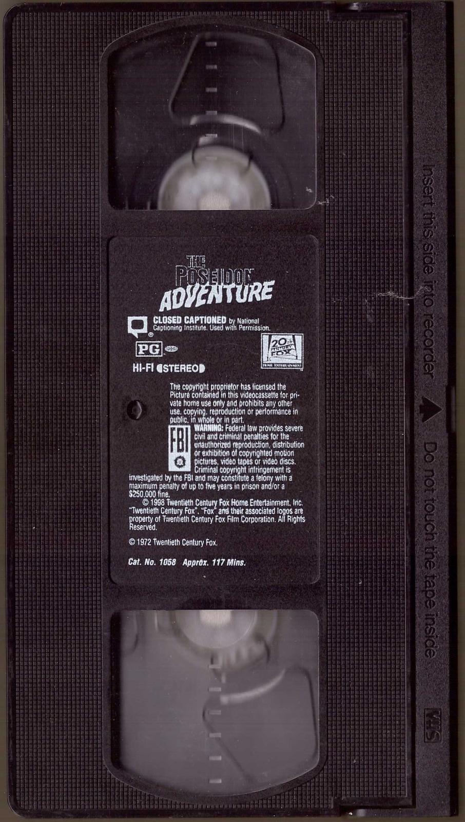 The Poseidon Adventure VHS Gene Hackman Ernest Borgnine Shelley Winters