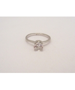 Vintage Sterling Silver White Topaz High Setting Ring Size 6.75 - $20.00