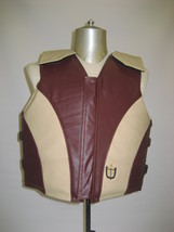 1200 Two-Tone Series Leather Bull Riding Vest - $364.95