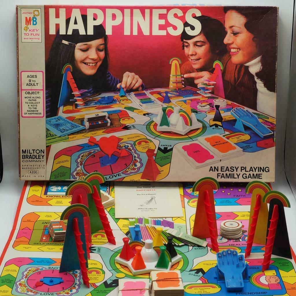Happiness Family Board Game 1972 Classic Milton Bradley Vintage