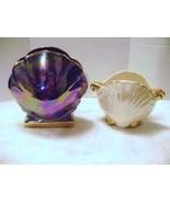 Ceramic Iridescent Shell Shaped Vases - $25.00
