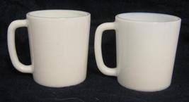 2 Hazel Atlas Child's  Milk Glass Mugs - $12.00