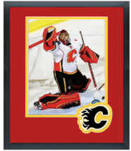 Jonas Hiller 2014-15 Calgary Flames - 11 x 14 Team Logo Matted/Framed Photo - $42.95