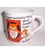 """NEW """"The Most Wonderful Thing About Grandpa's House..""""- Owl Ceramic Coff... - $27.14"""