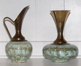 Vintage Art Deco Style, Blue Delft Holland Bras... - $38.95