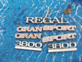 1991 REGAL GRAN SPORT FENDER SIDE TRUNK TRIM EMBLEM OEM USED ORIGINAL BU... - $74.89