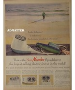 1958 Noreclo speed shaver vintage Print Ad man surf fishing & lures - $6.92