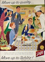 1958 MOVE UP TO SCHLITZ BEER THAT MADE MILWAUKEE FAMOUS AD BREWING CO BA... - $6.92