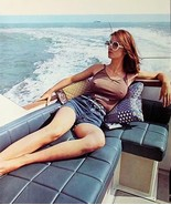 VINTAGE PINUP POSTER BRALESS EROTIC BOATING PHOTO SEXY SUNGLASSES CALEND... - $7.59