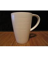 2013 Starbucks Inspiration Coffee Mug Tea Cup White Engraved Letters 16 oz - $19.99