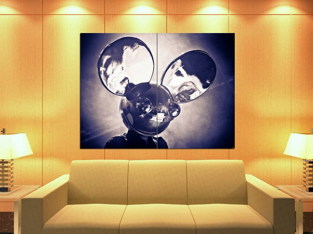 Deadmau5 dead mouse dj progressive house music 47x35 print for Mouse house music