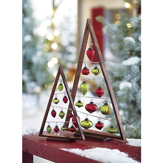 crate barrel wood christmas ornament tree small artificial christmas trees. Black Bedroom Furniture Sets. Home Design Ideas