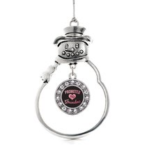 Inspired Silver Promoted to Grandma Circle Snowman Holiday Christmas Tree Orname - $14.69