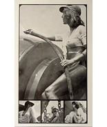 VINTAGE  PIN-UP GIRL POSTER! SEXY BRALESS WET T-SHIRT PHOTO HOT PINUP AR... - $9.89