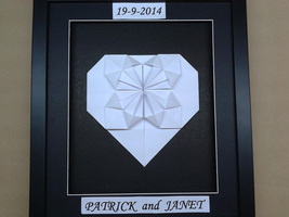 Origami Heart For Anniversary, Wedding, Valentine Gift For Her/Him - $49.00